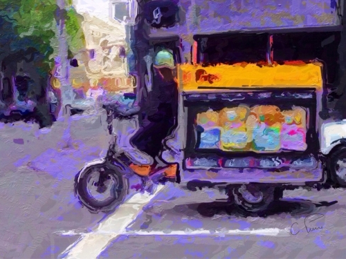"""Fresh Bread Delivery."" ©2013. Christianna Pierce."