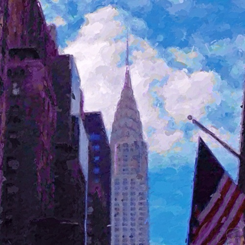 """Chrysler Building and Afternoon Clouds."" ©2013. Christianna Pierce."